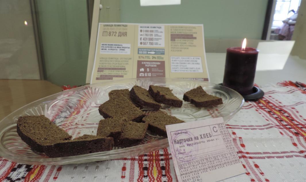 В Шахунском фольклорно – этнографическом музее состоялась акция «Блокадный хлеб»